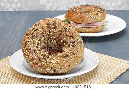 Whole Grain, Multi Seeded Bagels.