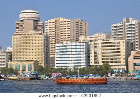 Dubai Creek in Dubai, UAE