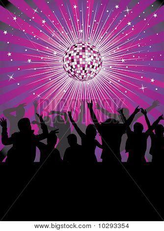 Nightlife in the disco club.