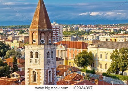 City Of Zadar Landmarks And Cityscape View
