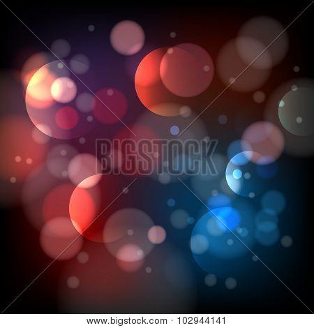 Defocused bokeh lights background