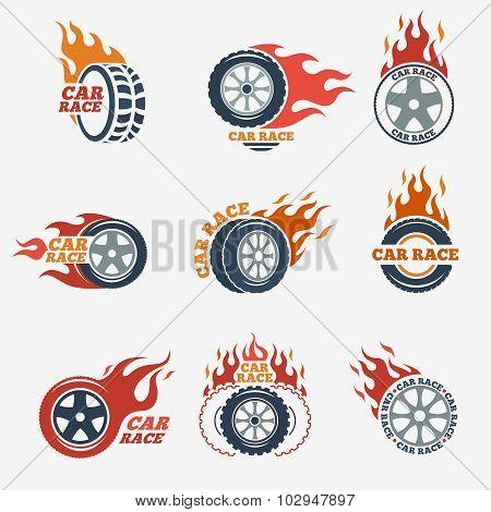 Racing flat labels