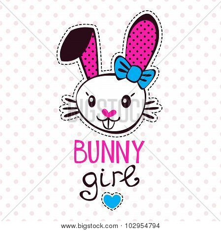 Cute bunny girl