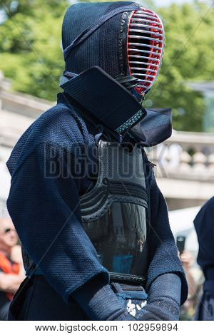 Kendo Fighter In Traditional Clothes