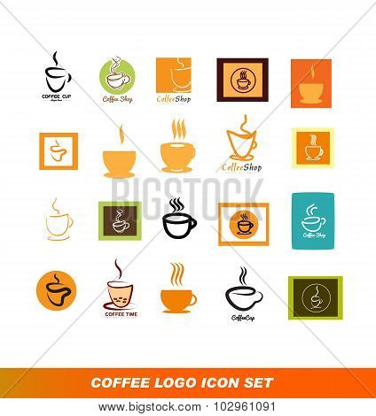 Coffee Shop Logo Icon Set