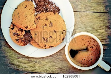 Chocolate biscuits - chocolate chip cookies
