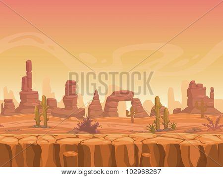 Seamless prairie landscape