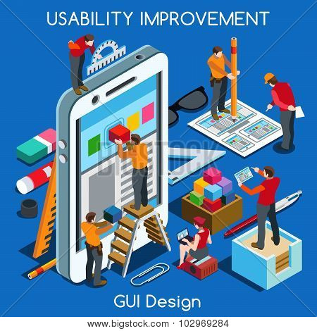 Gui Design 02 People Isometric