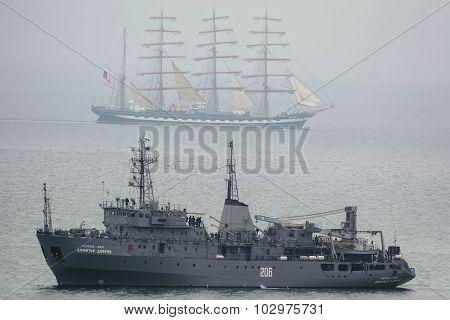 Degaussing Ship