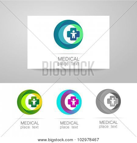 Medical logo - the concept for sign a medical institution, a center, foundation, organization, association, hospital. Vector collection.  poster