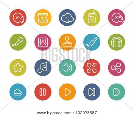 Media Player Icons // Printemps Series