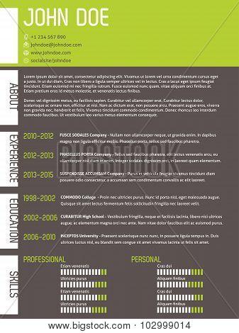 Modern Cv Resume With Simplistic Design
