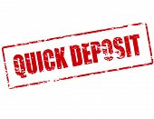Rubber stamp with text quick deposit inside vector illustration poster