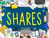 Shares Sharing Help Give Dividend Concept poster