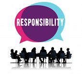 Responsibility Obligation Duty Roles Job Concept poster