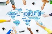 Cooperation Business Coworker Planning Teamwork Concept poster