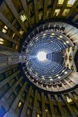 Johannesburg, South Africa - May 25, 2015: Ponte City Building interior cylinder. Ponte City is a famous skyscraper in the Hillbrow neighbourhood of Johannesburg. poster