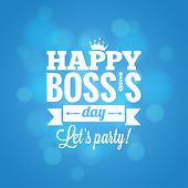 Boss day party card design vector background 10 eps poster