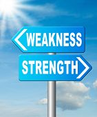 strength or weakness being strong or weak overcome problems accept the challenge to success poster