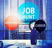 Job Hunt Employment Career Recruitment Hiring Concept poster