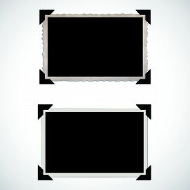 Blank Old Photo Frames and Corners