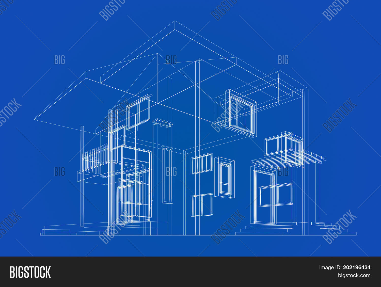 Cottage construction blueprint image photo bigstock cottage construction blueprint building design and 3d rendering model my own malvernweather Image collections