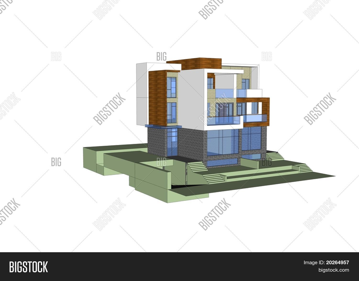 3d Model House Image & Photo (Free Trial) | Bigstock