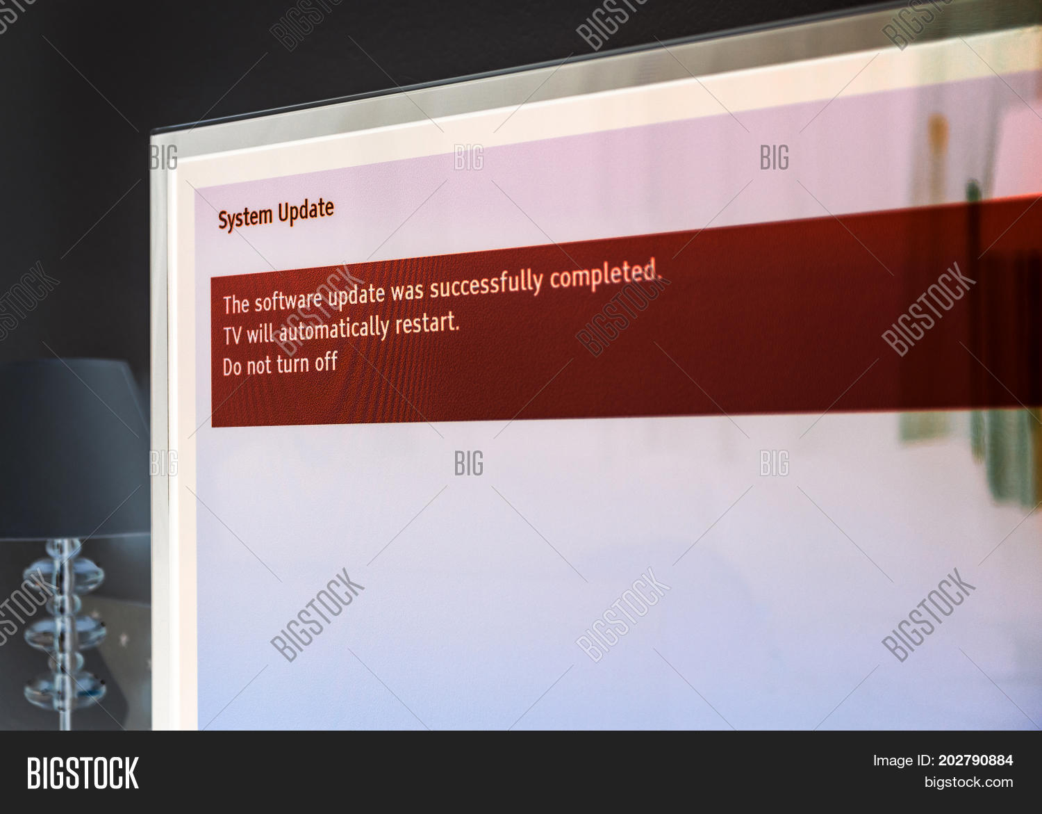 Message On Tv Screen Image & Photo (Free Trial) | Bigstock