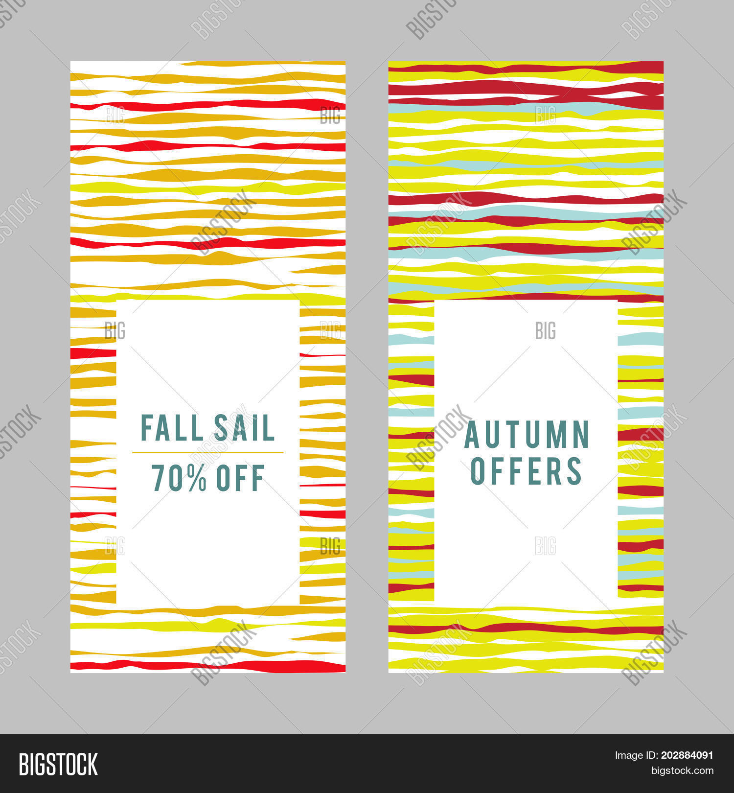 shopping sale design autumn offer banner copy space simple flyer design frame