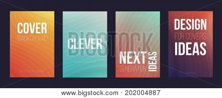 Set of 4 cover magazine template. Nice background for your presentation or for your print or web cover magazine.