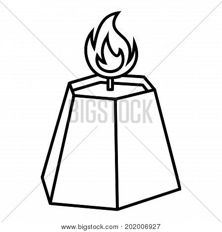 Hexagon candle icon. Outline illustration of hexagon candle vector icon for web