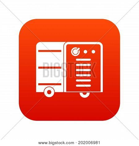 Inverter welding machine icon digital red for any design isolated on white vector illustration