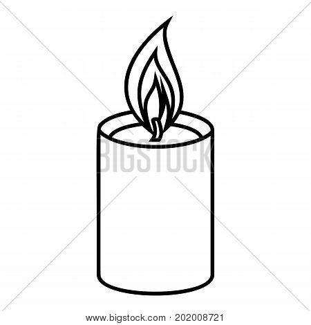 Romance candle icon. Outline illustration of romance candle vector icon for web