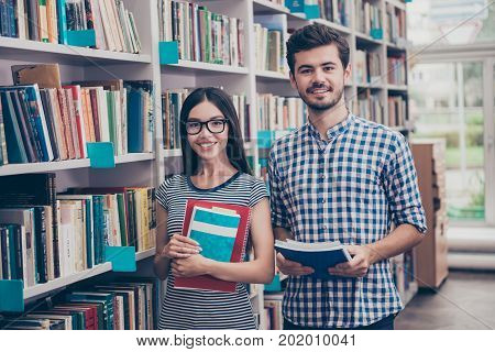 We Like Education! Successful Future For Smart Youth! Two Attractive Young Bachelors Are Welcoming I