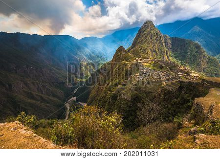 Machu Picchu UNESCO World Heritage Site. One of the New Seven Wonders of the World.