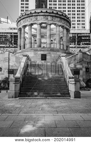 Brisbane, Australia - Thursday 17Th August, 2017: View Of Anzac Square War Memorial In Brisbane City