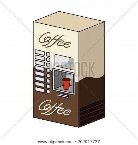 Terminal, preparation of various types of coffee. Terminals single icon in cartoon style isometric vector symbol stock illustration .
