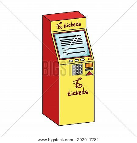 Terminal for ticket sales. Terminals single icon in cartoon style isometric vector symbol stock illustration .