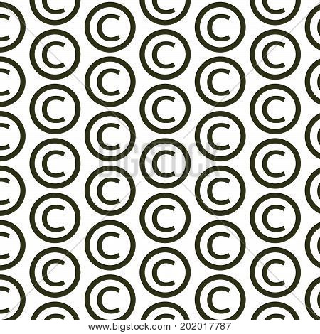 an images of Pattern background copyright symbol icon