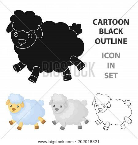 Toy sheep icon in cartoon design isolated on white background. Sleep and rest symbol stock vector illustration.