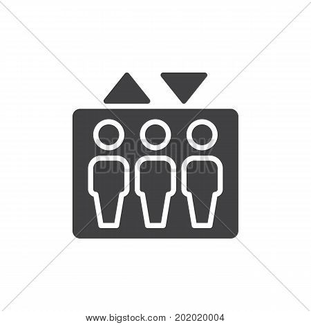 Elevator icon vector, filled flat sign, solid pictogram isolated on white. Symbol, logo illustration. Pixel perfect vector graphics