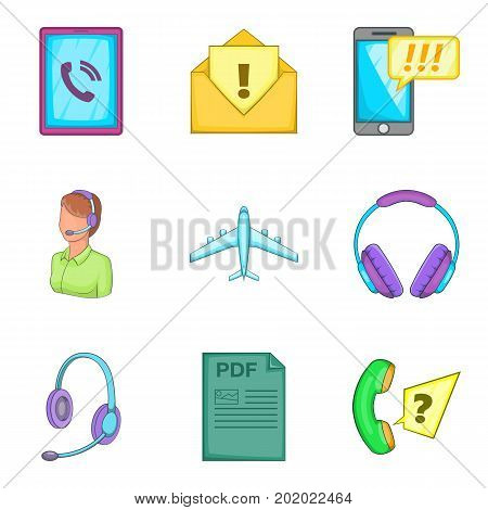 Important file icons set. Cartoon set of 9 important file vector icons for web isolated on white background