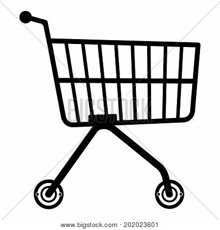 Small trolley icon. Simple illustration of small trolley vector icon for web