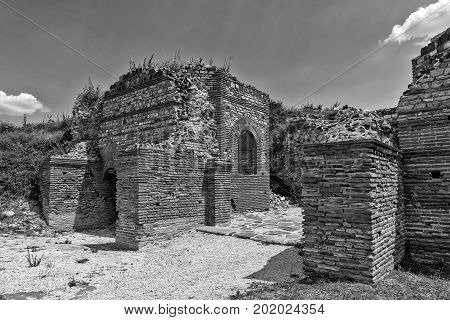 Zajecar Serbia - July 09 2017: The historical archaeological site of Felix Romuliana from the Roman Empire