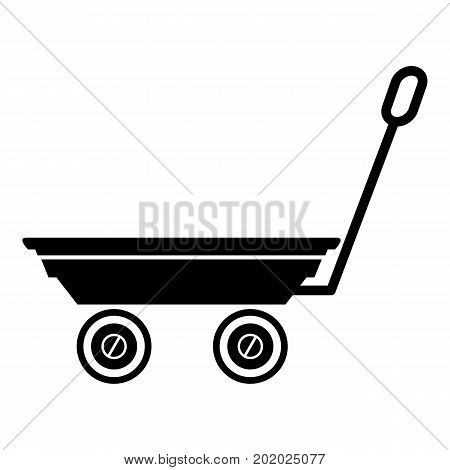 Market trolley icon. Simple illustration of market trolley vector icon for web