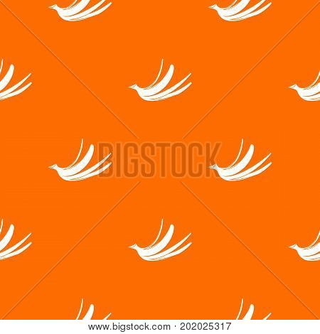 Banana peel pattern repeat seamless in orange color for any design. Vector geometric illustration
