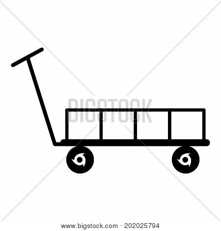 Big trolley icon. Simple illustration of big trolley vector icon for web