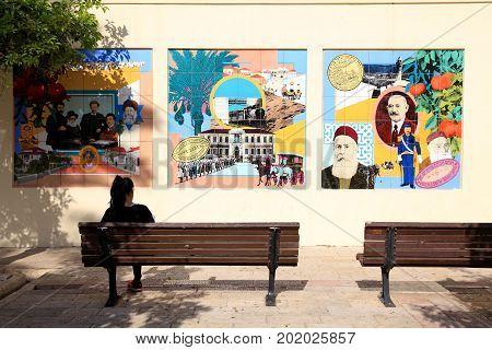 TEL-AVIV, ISRAEL - APRIL 3, 2016: Historic Neve Tzedek neighborhood, Tel-Aviv, Israel
