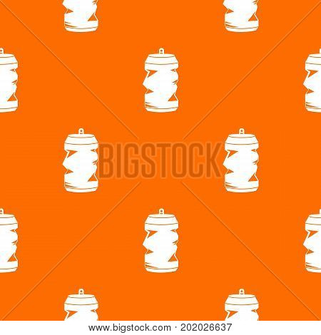 Crumpled aluminum cans pattern repeat seamless in orange color for any design. Vector geometric illustration