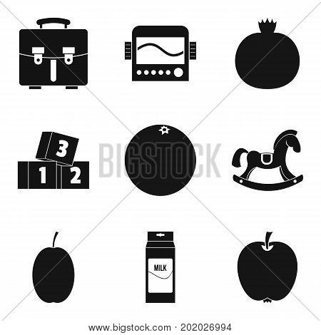First place icons set. Simple set of 9 first place vector icons for web isolated on white background